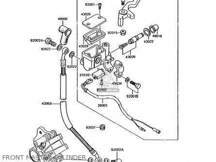 Kawasaki Ar125b5 1988 United Kingdom parts list
