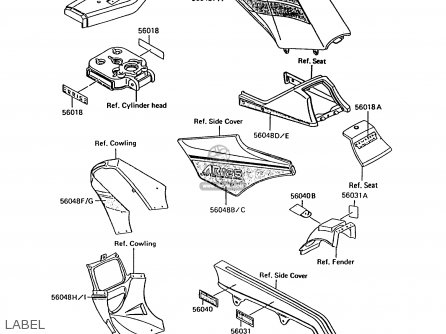 Kawasaki AR125B5 1988 UNITED KINGDOM parts lists and