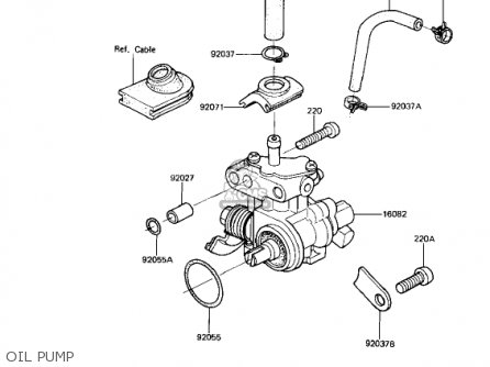 Kawasaki Ar50a1 1982 Usa parts list partsmanual partsfiche
