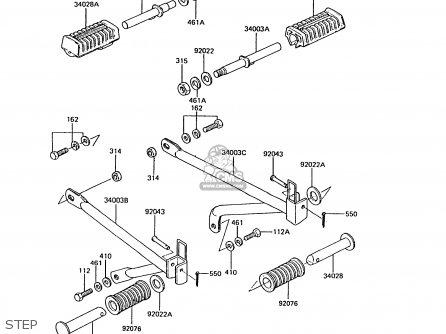 Kawasaki AR50C10 1992 EUROPE UK NL GR SA parts lists and