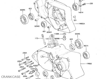Kawasaki Ar80a1 1982 Usa parts list partsmanual partsfiche