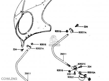 Kawasaki Ar80c2 1984 Usa / Mph parts list partsmanual
