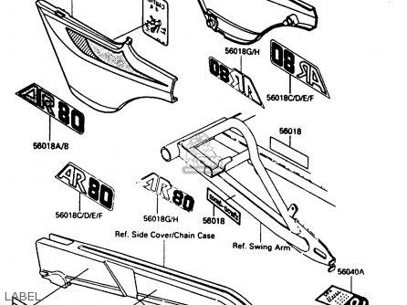 Kawasaki Ar80c4 1986 Usa / Mph parts list partsmanual