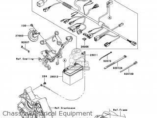 Kawasaki Ax125baf Fury 125r 2010 Usa parts list
