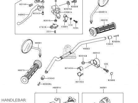 Kawasaki BJ250A3 ESTRELLA 1995 FG parts lists and schematics