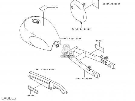 Kawasaki BJ250C3 ESTRELLA 1997 AUSTRIA parts lists and