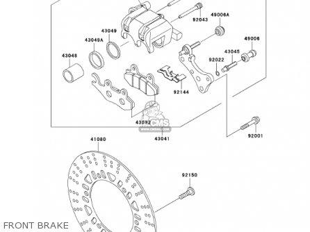 Kawasaki BN125A4 ELIMINATOR 2001 USA CANADA parts lists