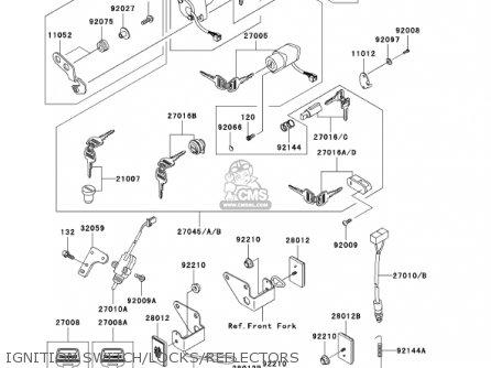 Kawasaki Bn125a4 Eliminator 2001 Usa Canada parts list