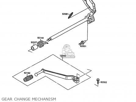 Kawasaki EL250B2 ELIMINATOR 1988 FG parts lists and schematics