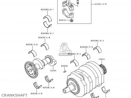 Kawasaki EL250E3 ELIMINATOR 1993 CANADA parts lists and