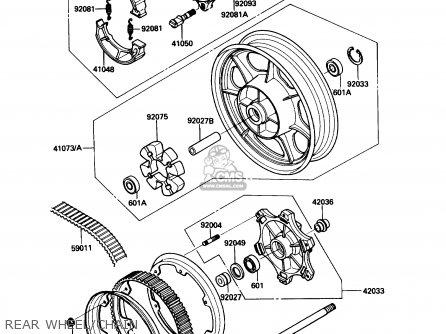 Kawasaki EN450A1 454LTD 1985 USA CALIFORNIA CANADA parts