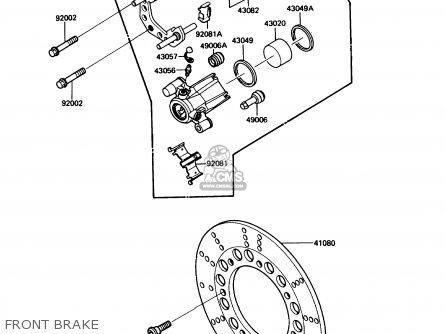 Kawasaki EN450A3 454LTD 1987 USA CALIFORNIA CANADA parts