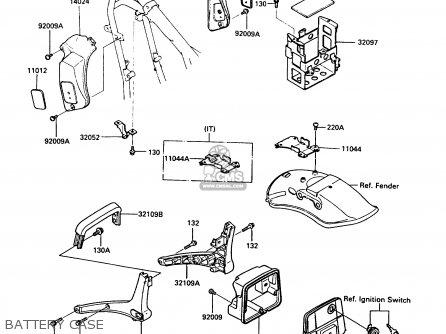 Kawasaki En450a5 Ltd450 1989 Europe Uk Ar Fg It Nr / Liquid Cooled parts list partsmanual partsfiche