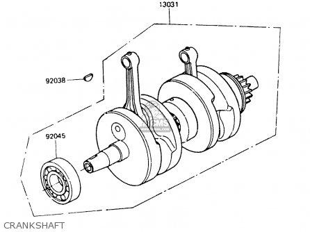 Kawasaki Er250a1 Z250t 1983 Canada parts list partsmanual
