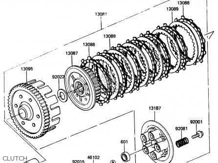 Kawasaki ER250B1 SCORPION 1983 USA parts lists and schematics