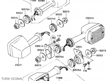 Kawasaki Er250b1 Scorpion 1983 Usa parts list partsmanual