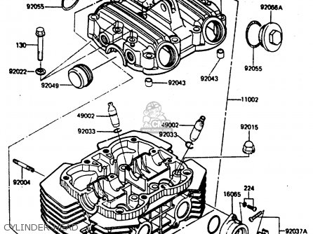 Kawasaki ER250B2 SCORPION 1984 USA parts lists and schematics