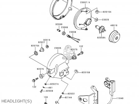 Kawasaki ER500B2 ER5 1998 FRANCE NL FG NR parts lists and