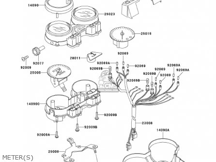 Kawasaki ER500C1 ER5 2001 CANADA parts lists and schematics
