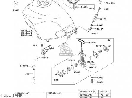 Kawasaki EX250F15 NINJA 250R 2001 USA CALIFORNIA parts