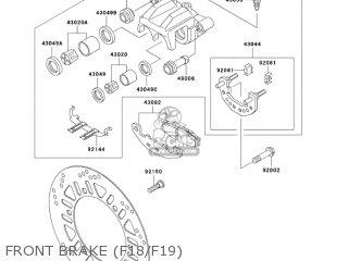 Kawasaki EX250F18 NINJA 250R 2004 USA CALIFORNIA parts