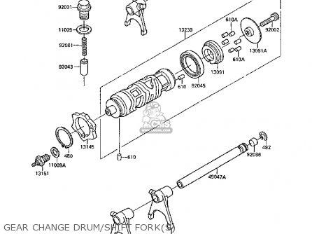 Kawasaki Ex250f2 Gpx250r 1988 United Kingdom parts list