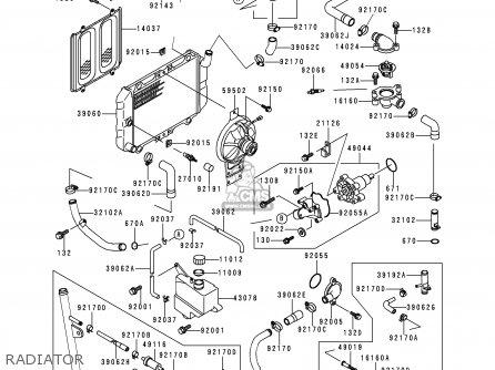 Kawasaki Ex250h10 Zzr250 1999 Netherlands It Sp parts list