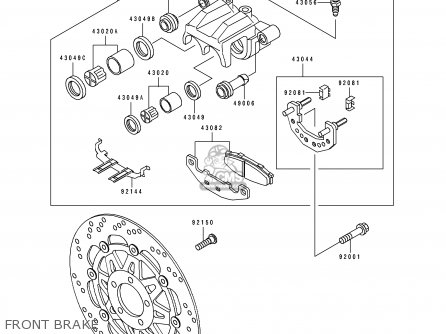 Kawasaki EX250H4 ZZR250 1993 NETHERLANDS IT parts lists
