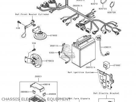 Kawasaki Ex250h9 Zzr250 1998 Spain parts list partsmanual