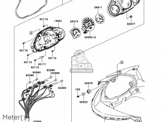 Kawasaki EX250J8F NINJA 250R 2008 USA parts lists and
