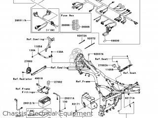 Kawasaki EX250J9F NINJA 250R 2009 USA parts lists and