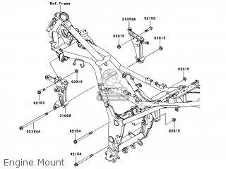 Kawasaki EX250JAF NINJA 250R 2010 USA parts lists and