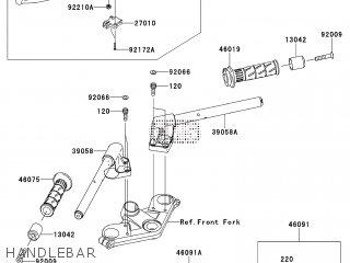 Kawasaki EX250KBF NINJA 250R 2011 EUROPE parts lists and