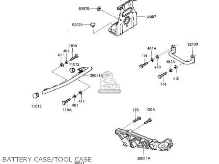 Kawasaki Ex305b1 Gpz305 1985 Usa Canada parts list