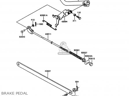 Kawasaki Ex305b7 Gpz305 1989 Fg / Belt Drive parts list