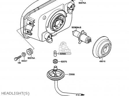Kawasaki Ex500a2 Gpz500s 1988 Europe Uk Ar Sd parts list