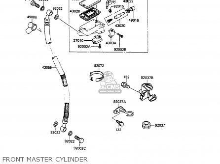 Kawasaki Ex500a3 Gpz500s 1989 Europe Uk Ar parts list
