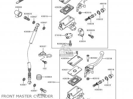 Kawasaki Ex500a4 1990 Usa California Canada parts list