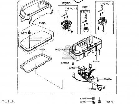 Kawasaki Ex500a5 Gpz500s 1991 United Kingdom Ar Sd parts