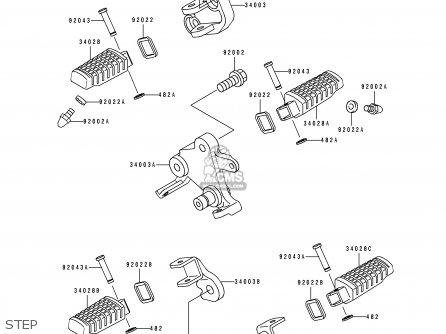Kawasaki Ex500a6 Gpz500s 1992 United Kingdom Sd parts list