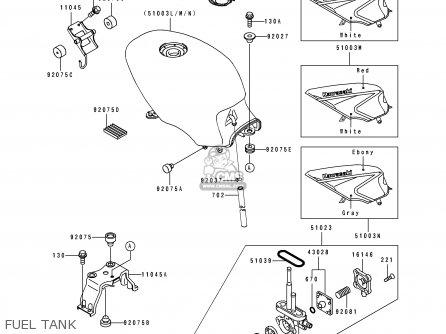 Kawasaki Ex500b6 Gpz500s 1993 France Nl Fg St parts list