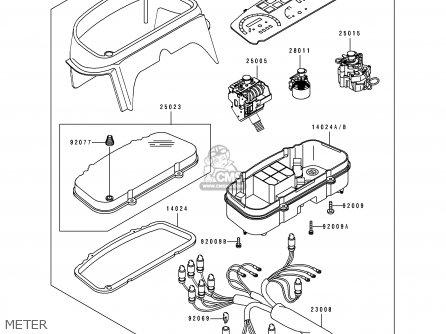 Kawasaki EX500B6 GPZ500S 1993 FRANCE NL FG ST parts lists