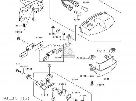 Kawasaki Ex500d1 Gpz500s 1994 United Kingdom Sd parts list