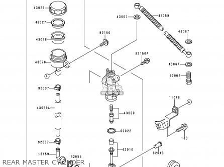 Kawasaki Ex500d2 Gpz500s 1995 United Kingdom Sd parts list