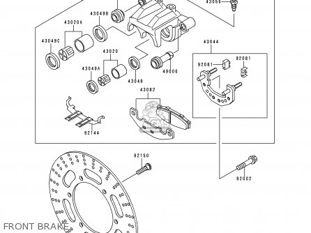 Kawasaki EX500D3 GPZ500S 1996 UNITED KINGDOM parts lists