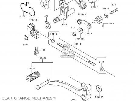 Kawasaki EX500D5 GPZ500S 1998 UNITED KINGDOM parts lists