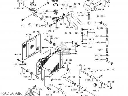 Kawasaki Ex500f1 Gpz500s 1994 Austria parts list