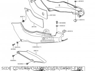 Kawasaki EX500F1 GPZ500S 1994 AUSTRIA parts lists and