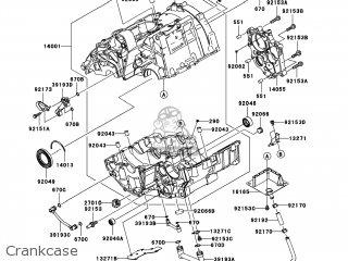Kawasaki EX650CAF NINJA 650R 2010 USA parts lists and
