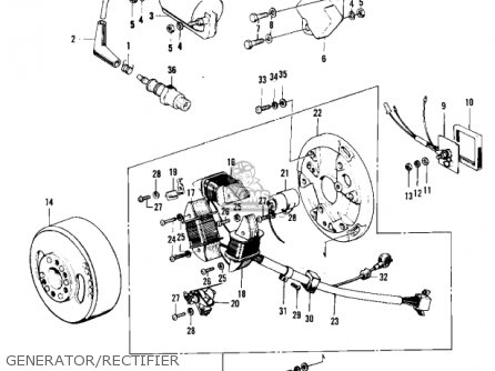 Kawasaki F11A 1974 USA parts lists and schematics